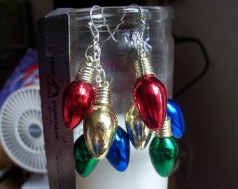 Christmas Bulb Dangle Earrings