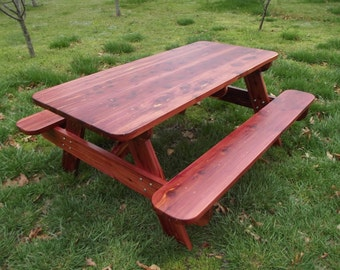 6 ft eastern red cedar outdoor custom picnic table for 10 ft picnic table