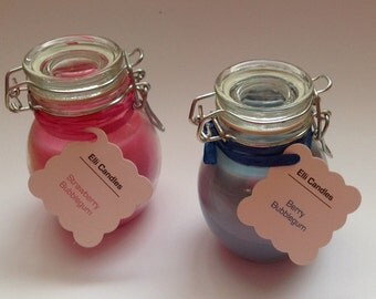 Bubblegum scented candles. 2 options available