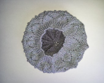 Gray Silver Sparkle Women's Beret