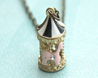 carousel necklace- carnival necklace,circus necklace, merry go round
