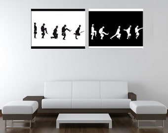 MONTY PYTHON ~ Ministry of Silly Walks Hand Painted Canvas Pop Art Oil Painting L FRAMED ~ John Cleese Gallery Wrapped Wall Art