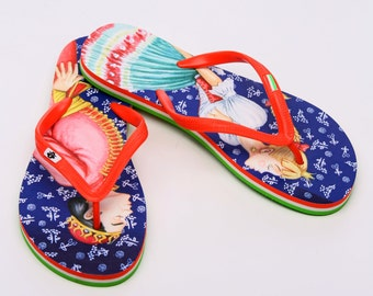 Hungarian Fairytale Couple Flip Flop