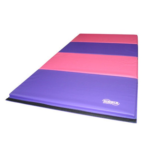 8 Foot Gymnastics Tumbling Mat Folding Panel Mat Colors: