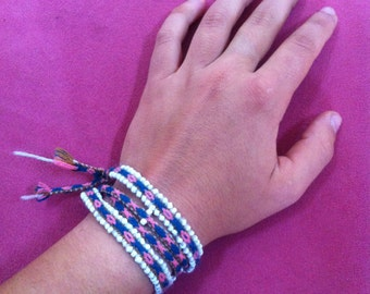 A handmade traditional Peruvian bracelet/anklet