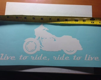 Live to Ride Harley Decal Sticker for Car Truck SUV or Computer