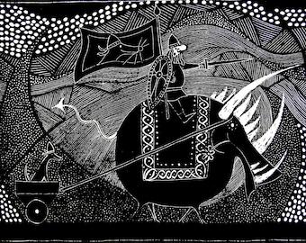 Odin, Gullinbursti and Garm