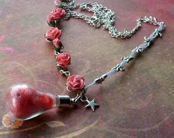 Pink Fairy Bottle Necklace