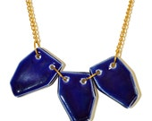 Glazed ceramic necklace - Geo Set