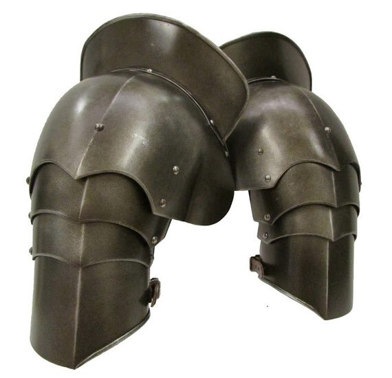 Larp Armour Articulated Pauldrons, spaulders, spalders, with haute-piece