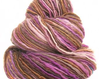 Handspun handdyed BFL wool yarn