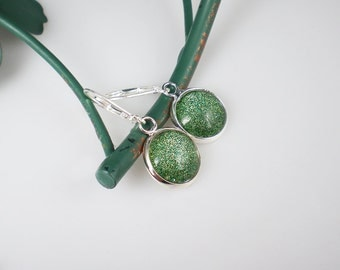 Glittery Green Nail Polish Earrings Jewelry China Glaze This is Tree Mendous Nail Polish