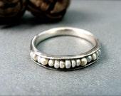 Salish sea … pearl stack ring