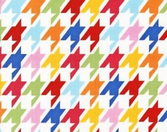 REMNANT PIECE - Robert Kaufman Remix Houndstooth Bright Quilting Apparel Fabric
