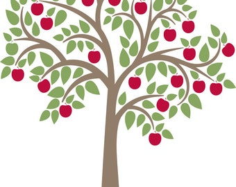 "Apple Tree Wall Decal 60"" x 75"""