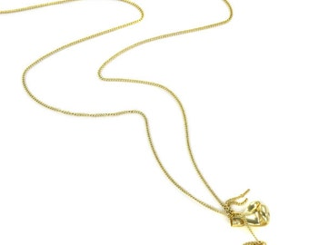 Birdhouse Jewelry - Boxing Gloves Necklace