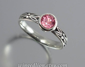 AUGUSTA Pink Sapphire 14K white gold engagement ring