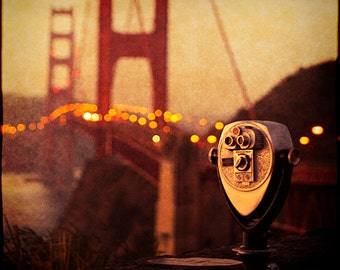 San Francisco Photography - Golden Gate Bridge Print, California, Travel, Vacation, U.S. Landmark, Morning