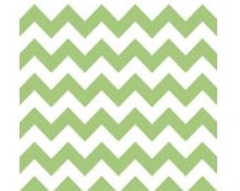 Lime Green Chevron Fabric