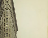 Flatiron Building in New York City, Autumn Colors, Mad Men, NYC Architecture, Travel Photography, For Him, Brown, Neutral - Vertical Leap