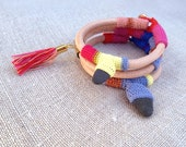 3x Leather, crochet & tassel or pebble bracelet (with a discount)