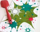 Retro Modern Holiday Atomic Age Tea Towel - Starburst Splatter