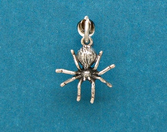 Spider Sterling Silver Insect Bug Mini Charm for Bracelet or Anklet no. 1708
