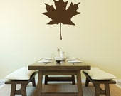Maple Leaf Wall Decal - Large Leaf Decal - Leaf Wall Decal - Fall Decal - Statement Decal - WD1039