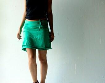 Wrap skirt, Cotton skirt, Kelly green skirt, Jersey skirt, Womens clothing, Pencil skirt, Maternity skirt, plus size clothing, Mini skirt