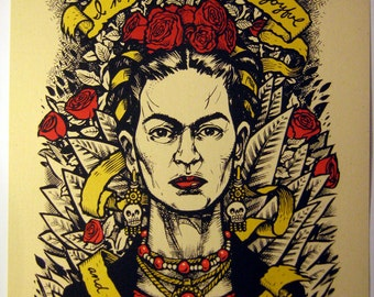 Last Words series Frida Kahlo 3rd edition variant limited edition screenprint