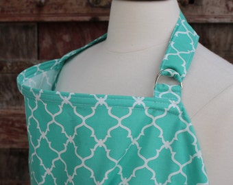 Nursing Cover-Teal Lattice-Free Shipping When Purchased With A Wrap