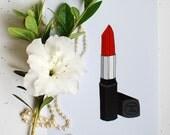 Chanel Lipstick Fashion Illustration Art Print