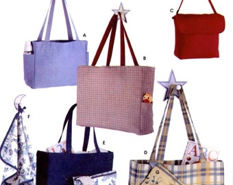 Diaper Bag pattern Moms accessory handbag purse new mother changing pad sewing pattern Simplicity 5527 UNCUT shower gift new moms
