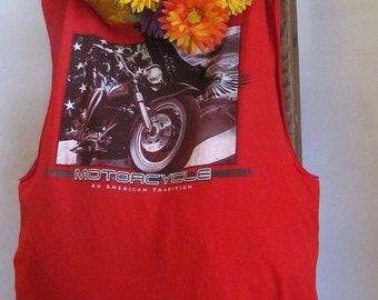 Reusable/Recycled Market/Tote Motorcycle Handmade by FashionGreenTBags