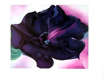 Petunia -Georgia O'Keeffe Vintage 1987 Print
