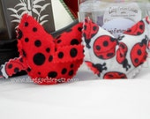 Organic Catnip toys, Lady Bug Print and Red Fortune Cookies in Box, set of 2