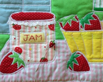 Summer Strawberry Pin Topper