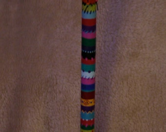 Funky hand painted and beaded toilet plunger