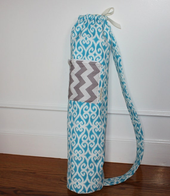 Yoga Bag With Zipper Pocket Mat Only Size Ikat By