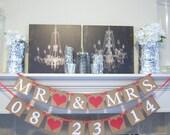 Wedding Banners, Save the date, Wedding Garland, MR & MRS,Date,Photo Prop, Wedding Reception, Rustic Wedding