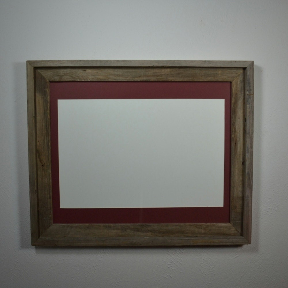 16x20 Barnwood Frame With Mat For 11x14 Or 11x17 Or 12x18 Or