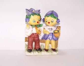 Vintage Rare Lipper and Mann Violet Flower Children Planter