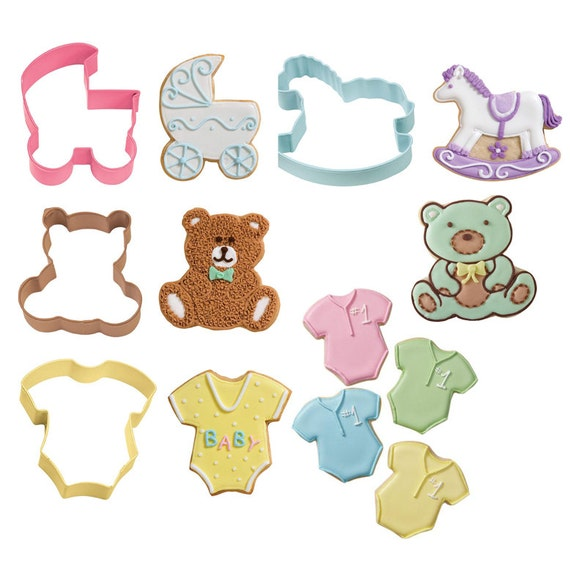 to sale baby shower cookie cutter new baby 4 piece baby theme cookie