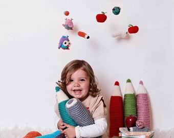 Instant Download, Reading Corner Set Crochet PATTERN