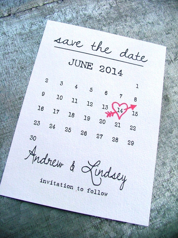 Save The Date Template Wedding Save The Date Cards Heart On