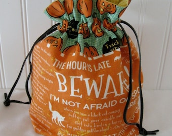 Trick or Treat Halloween Drawstring Bag