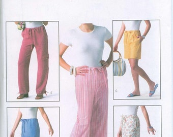 Butterick 4194 Capris Skirts and Cargo Pants Sewing Pattern Sizes XS-S-M Easy to Sew