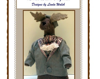 Moose Me Victorian Woodland Art Doll  E-Pattern