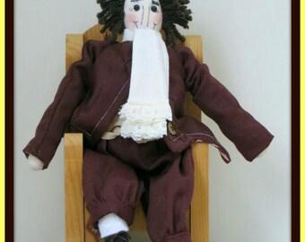 Colonial Madis Handmade Boy Art Doll
