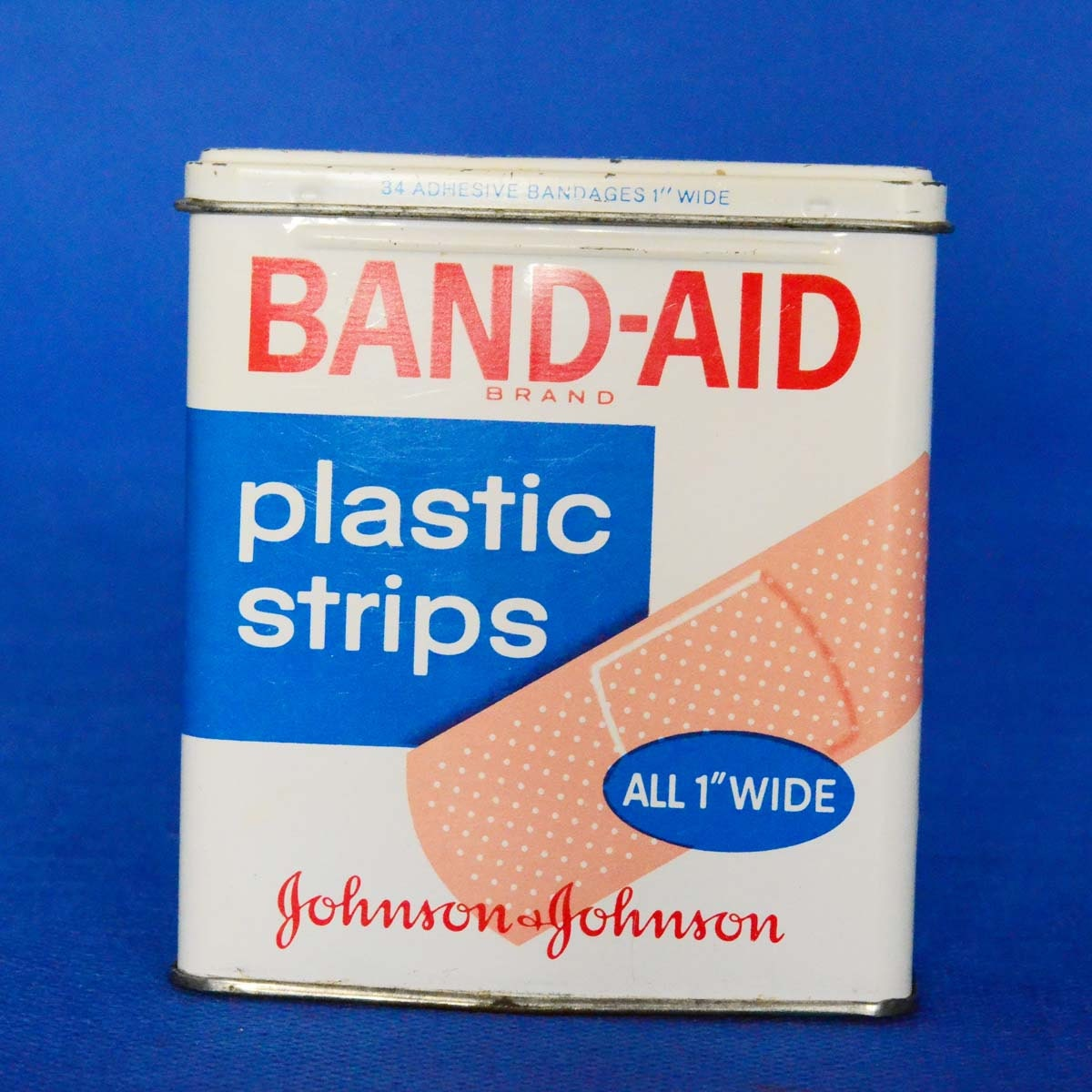 Vintage johnson and johnson band aid tin by backstashandbygones